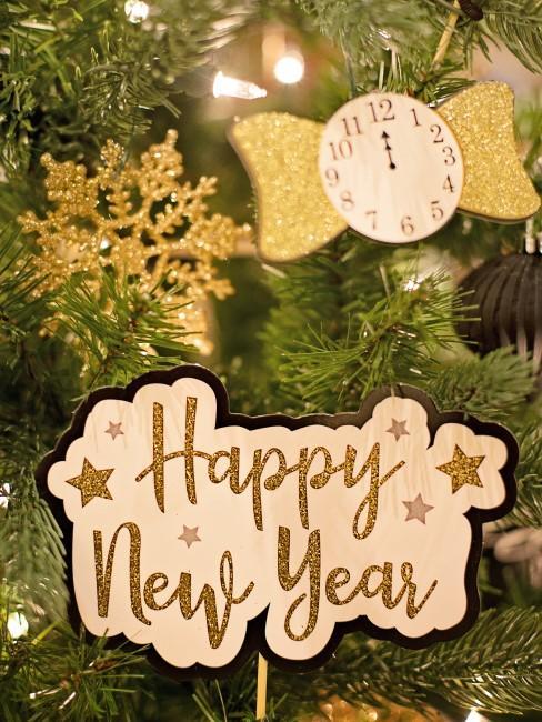 adorno arbol de navidad happy new year