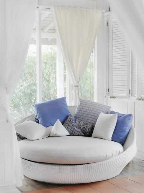 sofá cirucular moderno y persinas electricas