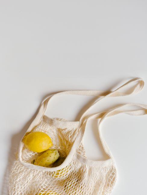 Sac en textile avec citron
