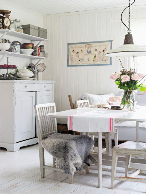 cuisine blanche type cottage