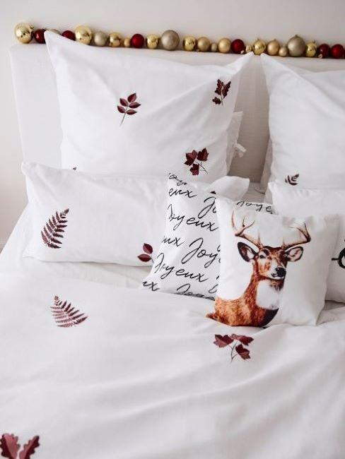 camera natale cuscino renna