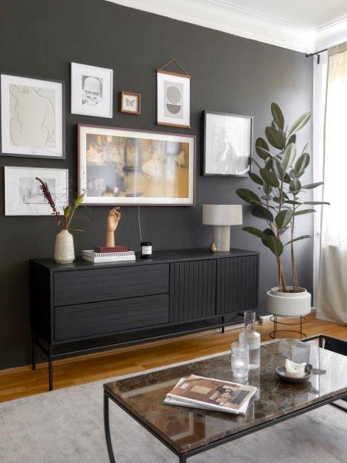 abbinamento colori pareti nero