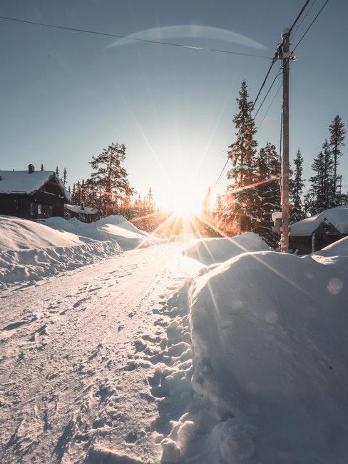 montagna in inverno