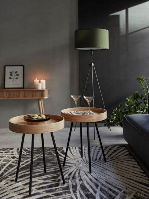 tavolini da caffè in soggiorno industriale