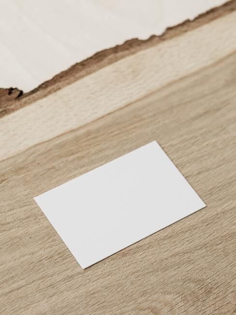 Naamkaartjes DYI wit papiertje
