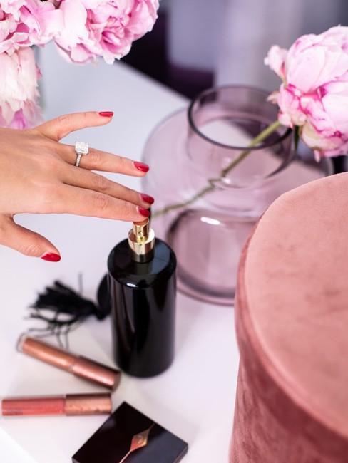 Glam room roze en paars