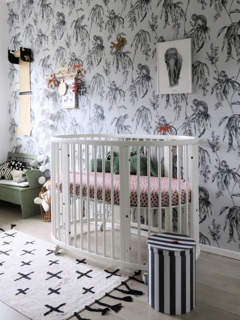 Babykamer in neutrale tinten
