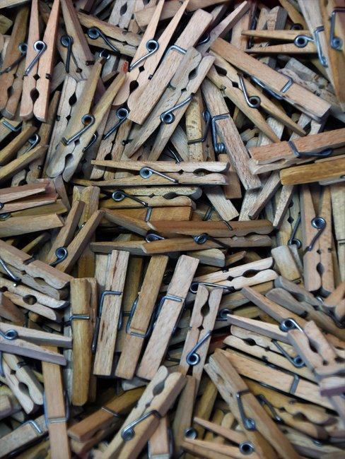 houten wasknijpers