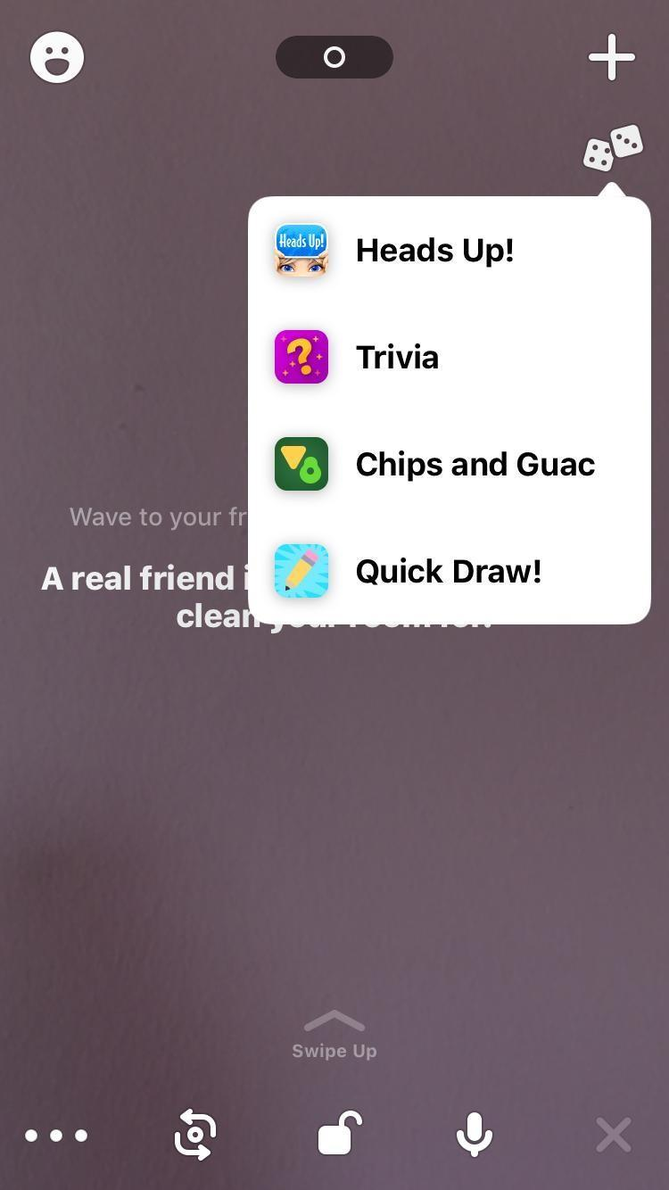 Zrzut ekranu z telefonu z aplikacji Houseparty