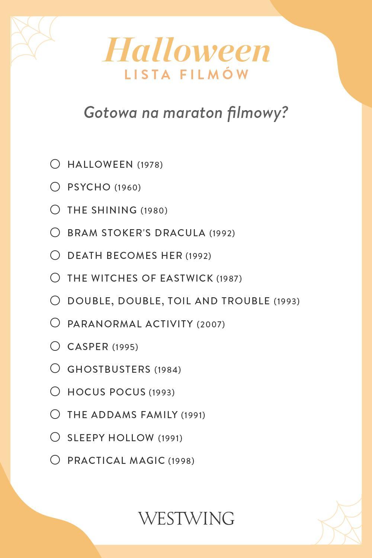 Lista filmów na Halloween