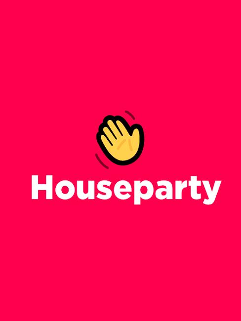 houseparty app logo wave winken