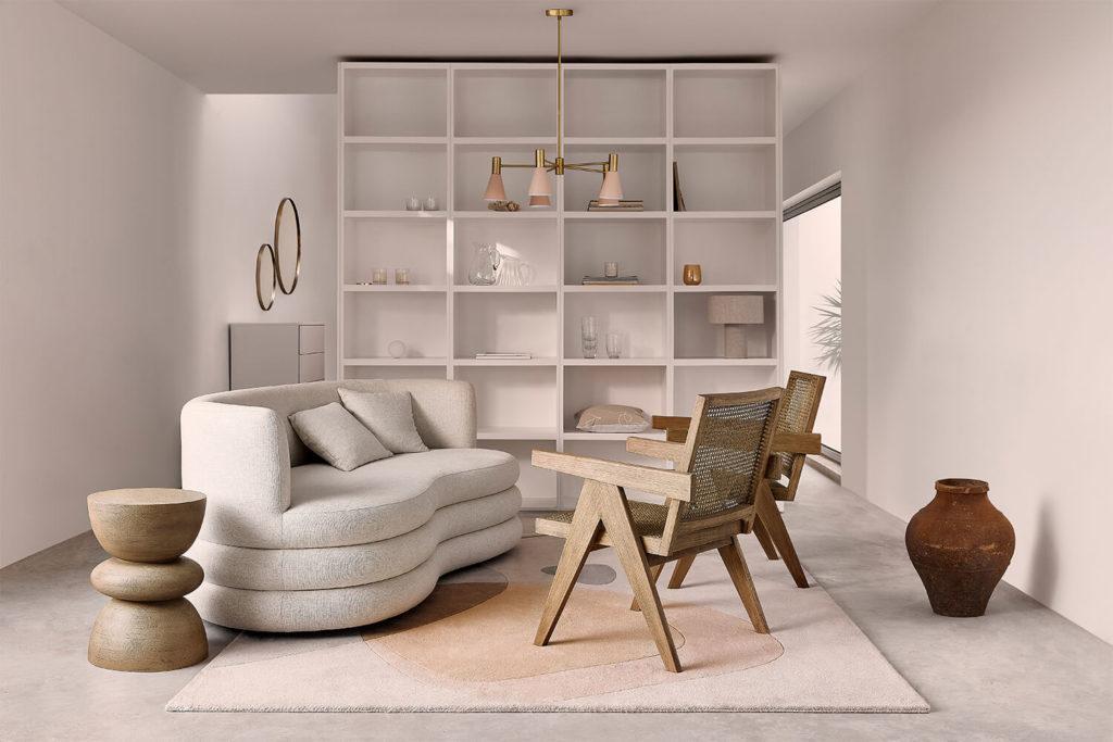 Zoom Hintergrundbild modernes Wohnzimmer