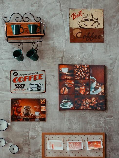 Bilder für die Küche mit Kaffeemotiven