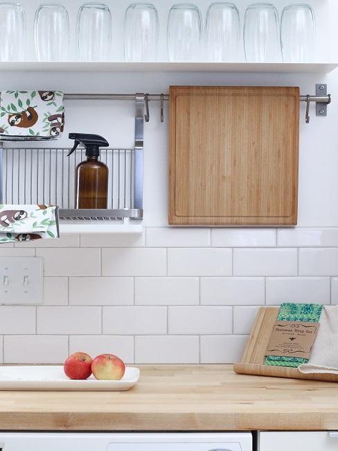 Pantry Küche Weiß Aufhängung Hängeregal