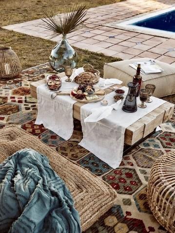 Moderne Tischdeko orientalisch