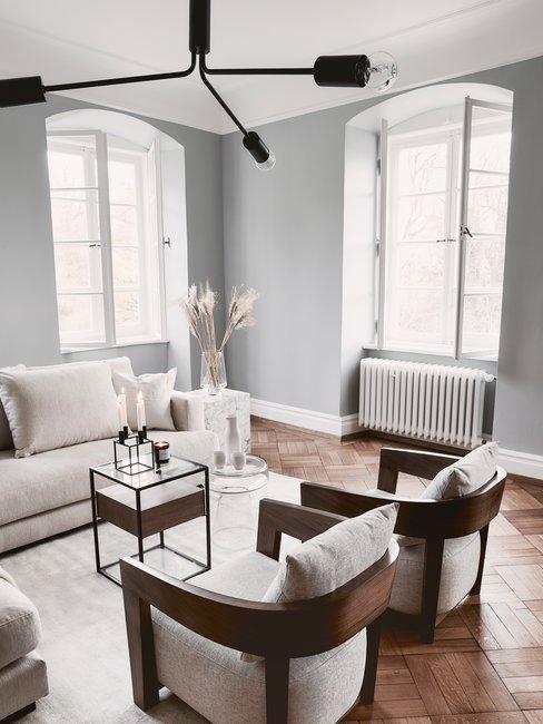 Kleuren stijl natuurtinten woonkamer