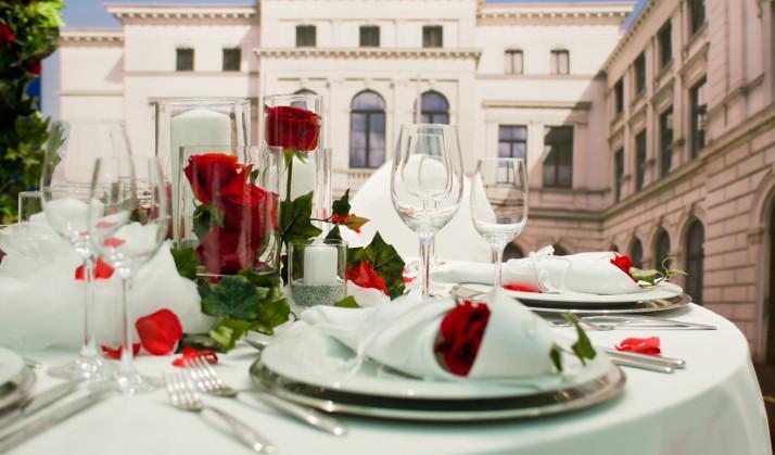 Tischdeko Hochzeit Rot Weiß