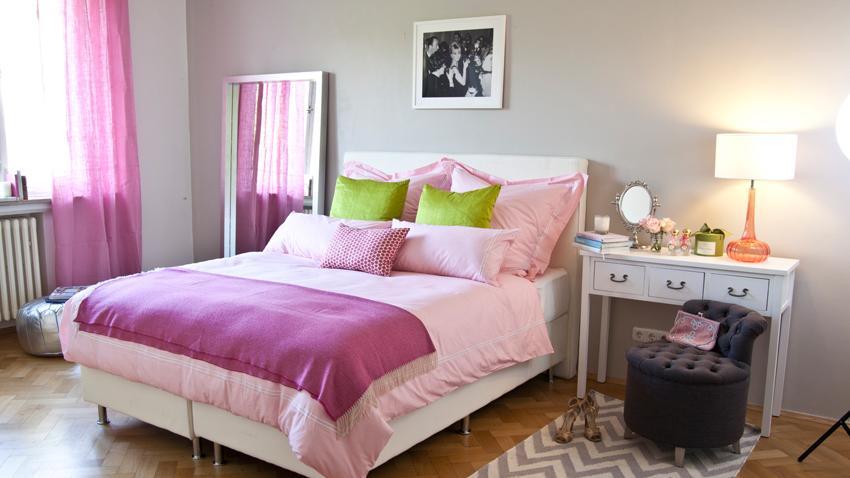 Pinkes-Schlafzimmer