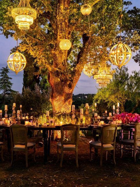 ricevimento matrimonio lightning design