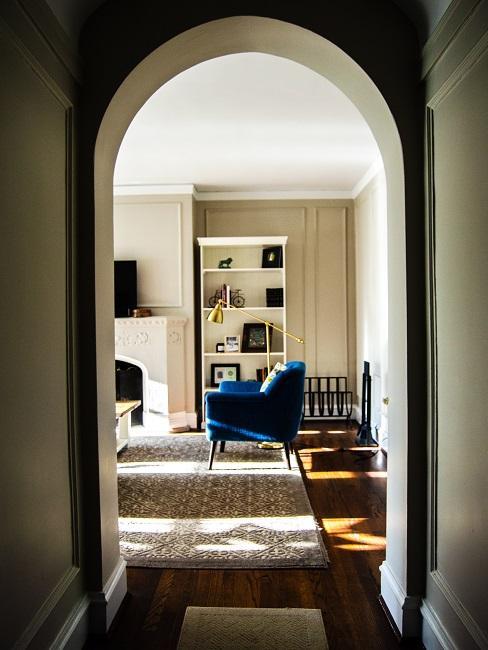 Vintage Stil Teppich und Sessel