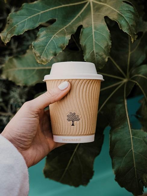 nachhaltiges design Natur Baum Kaffeebecher Papier
