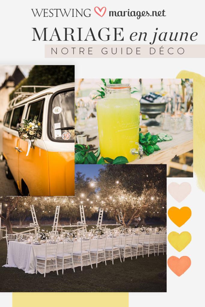 inspiration mariage en jaune