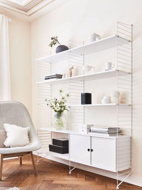 color crema per pareti libreria