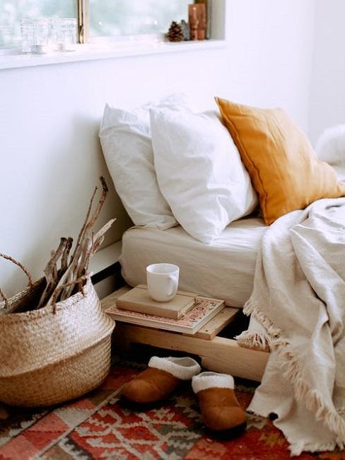 Camera da letto con materiali ecosostenibili