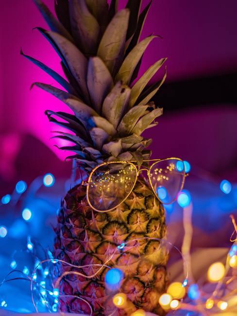 Decoratieve ananas met zonnebril