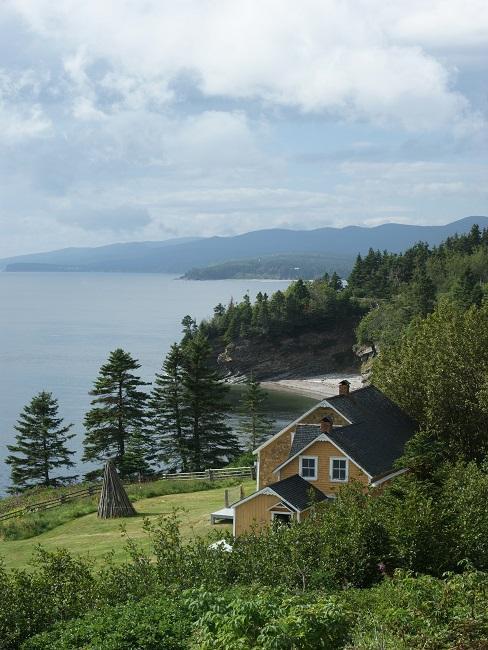 Huis aan een meer midden in de natuur