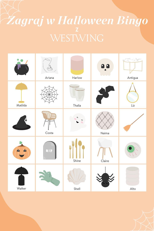 Bingo na Halloween stworzone przez Westwing