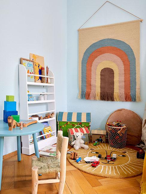 Kolorowy kącik do zabawy dla dziecka