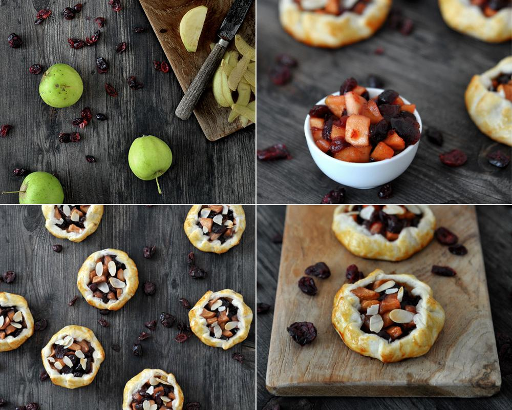 Backideen apfel cranberries galette