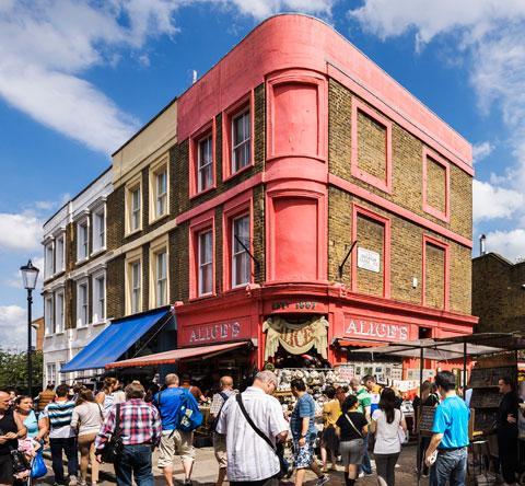 Die schönsten Märkte in Notting Hill