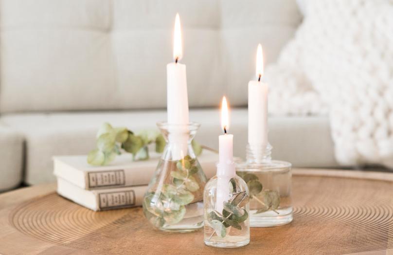 DIY Minimalistischer Kerzenhalter