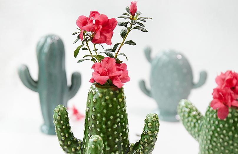 3 Looks - so stylen Sie Blumen in einer Kaktus Vase