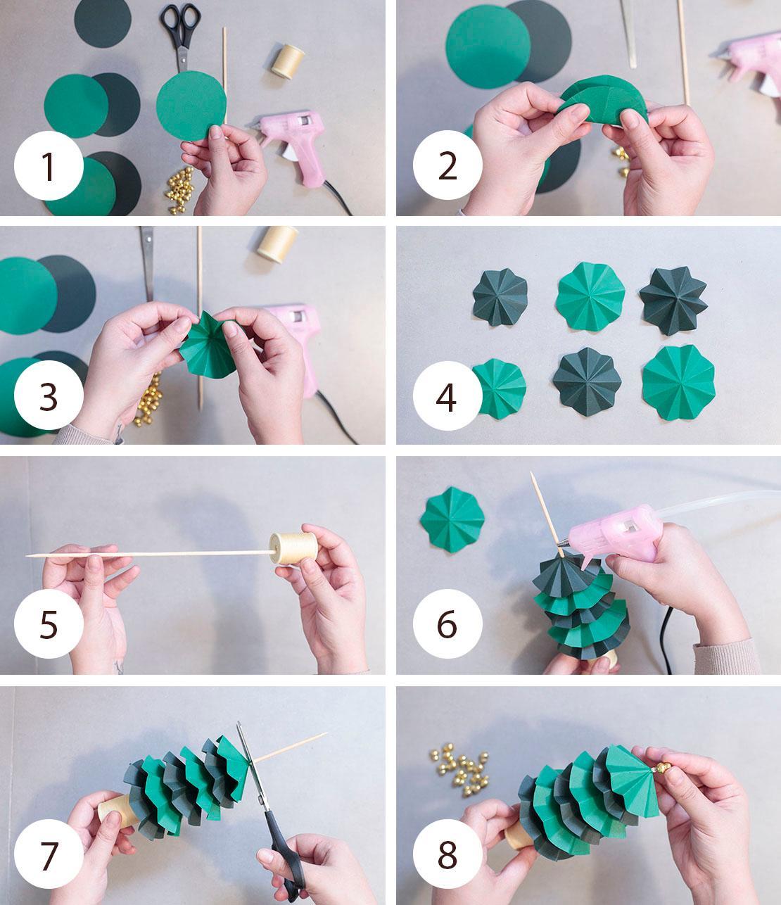 Pasos para hacer árbol de Navidad