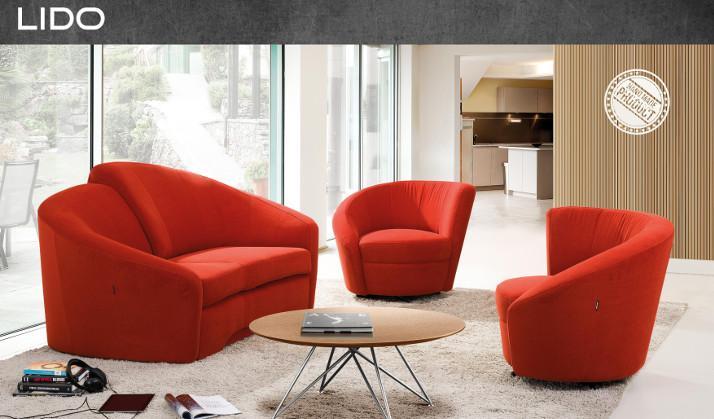 Sino-Living rote Couchgarnitur