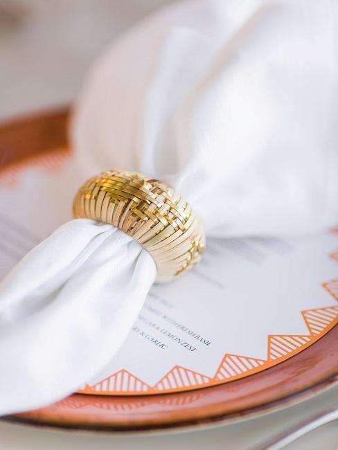 Tischdeko Hochzeit Teller Menükarte Serviette Serviettenring
