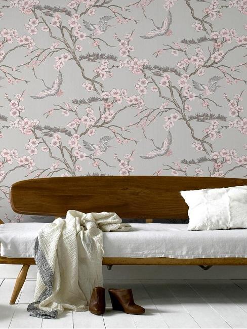 Zimmer mit Muster-Tapete