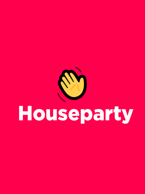 houseparty app logo wave winken