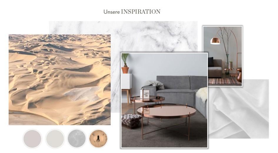 Wohnzimmer neu gestalten Moodboard Inspiration