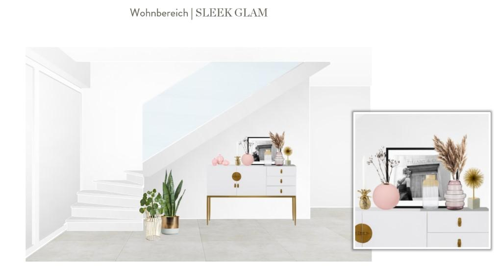 Reihenhaus einrichten Wohnzimmer Sideboard Entwurf 1