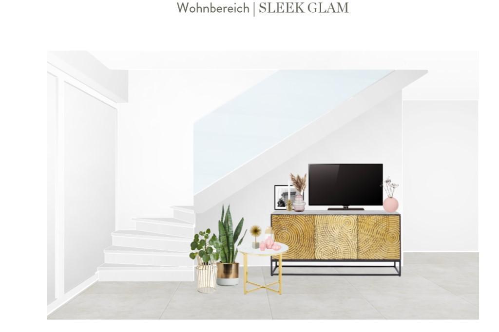 Reihenhaus einrichten Wohnzimmer Sideboard Entwurf 3
