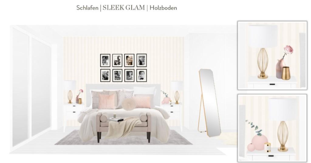 Reihenhaus einrichten Schlafzimmer Bett Entwurf 1