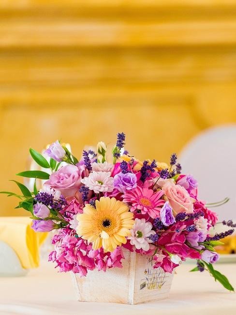 Blumen Tischdeko Pink
