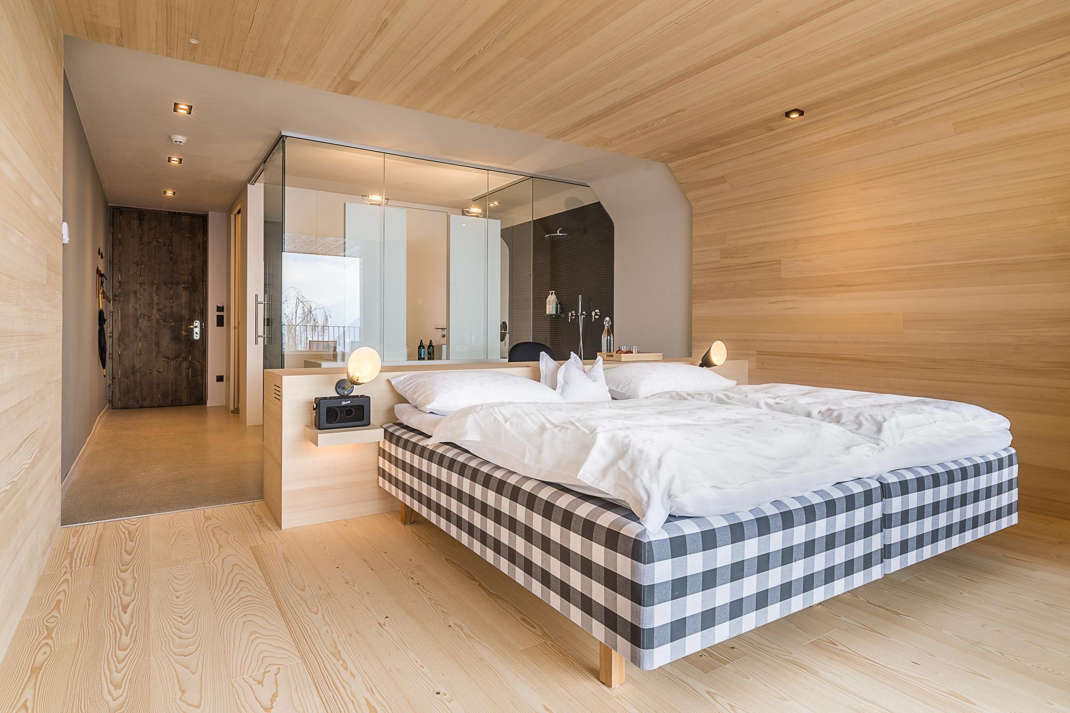 Luxus Chalet Stil Miramonti Zimmer Bett