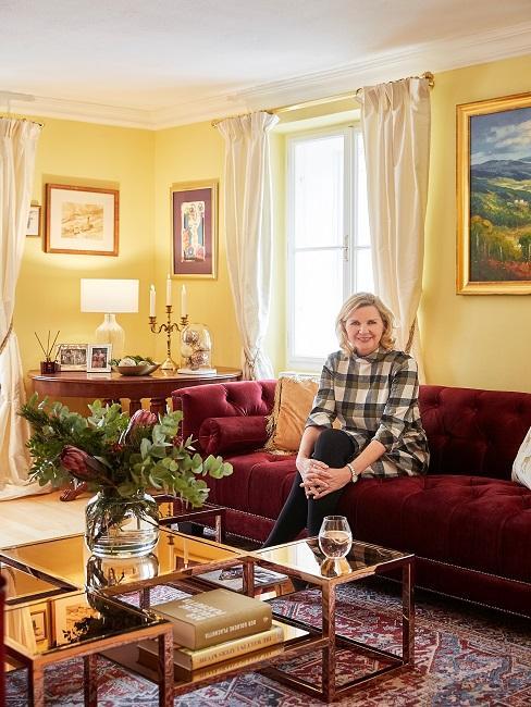 Hera Lind Sofa Wohnzimmer