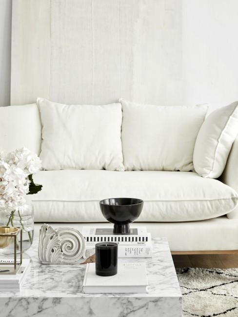 Weißes Sofa reinigen