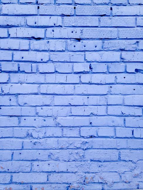 Pared de ladrillo azul